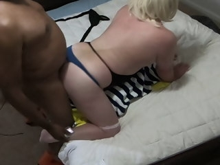 HOT IR Fuck - BBC Climbs on White CD Gives Creampie